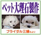 「ペット大理石製作/ブライダル三縁」※滋賀県